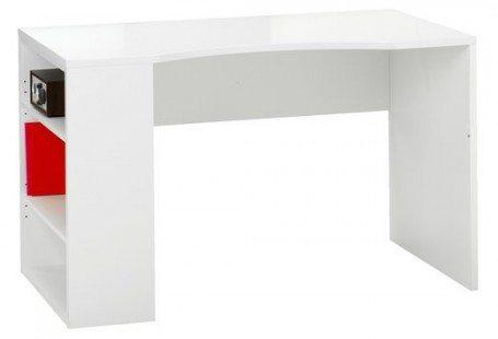 simple white desk