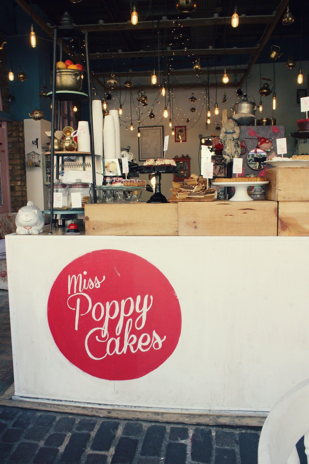 Miss Poppy Cakes counter