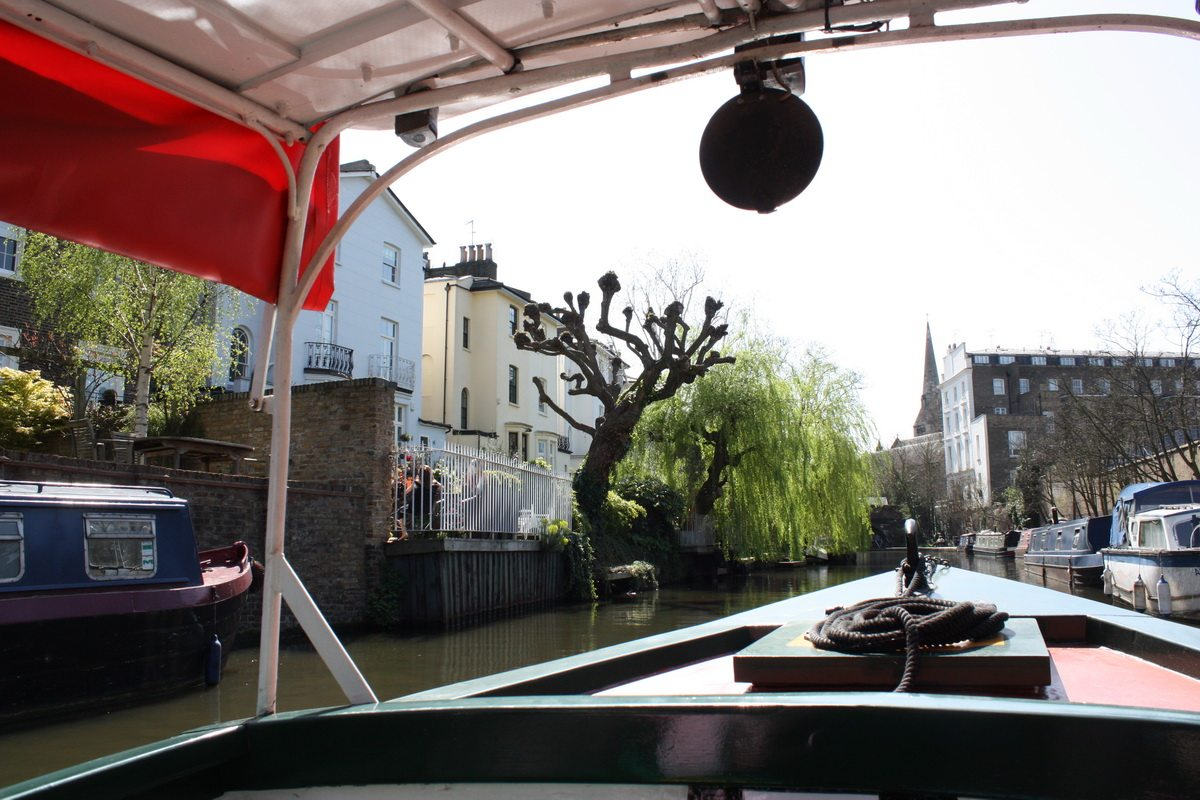 On a boat in camden
