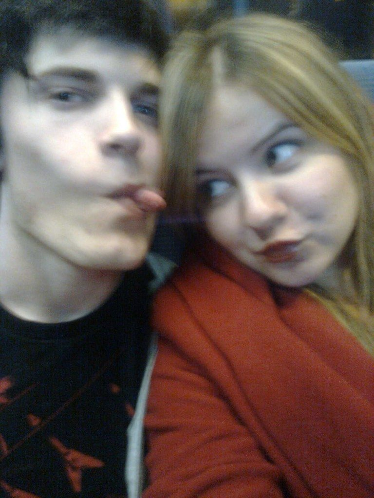 Vaughan tennant and leah on a bus