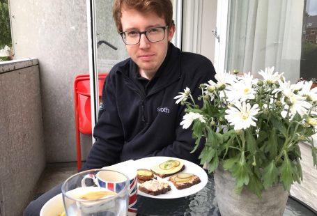 lunch at our little balcony smørrebrød