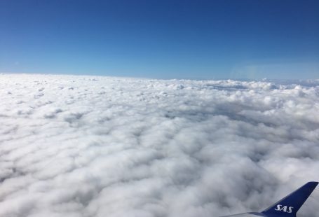 clouds from above on a SAS airplane