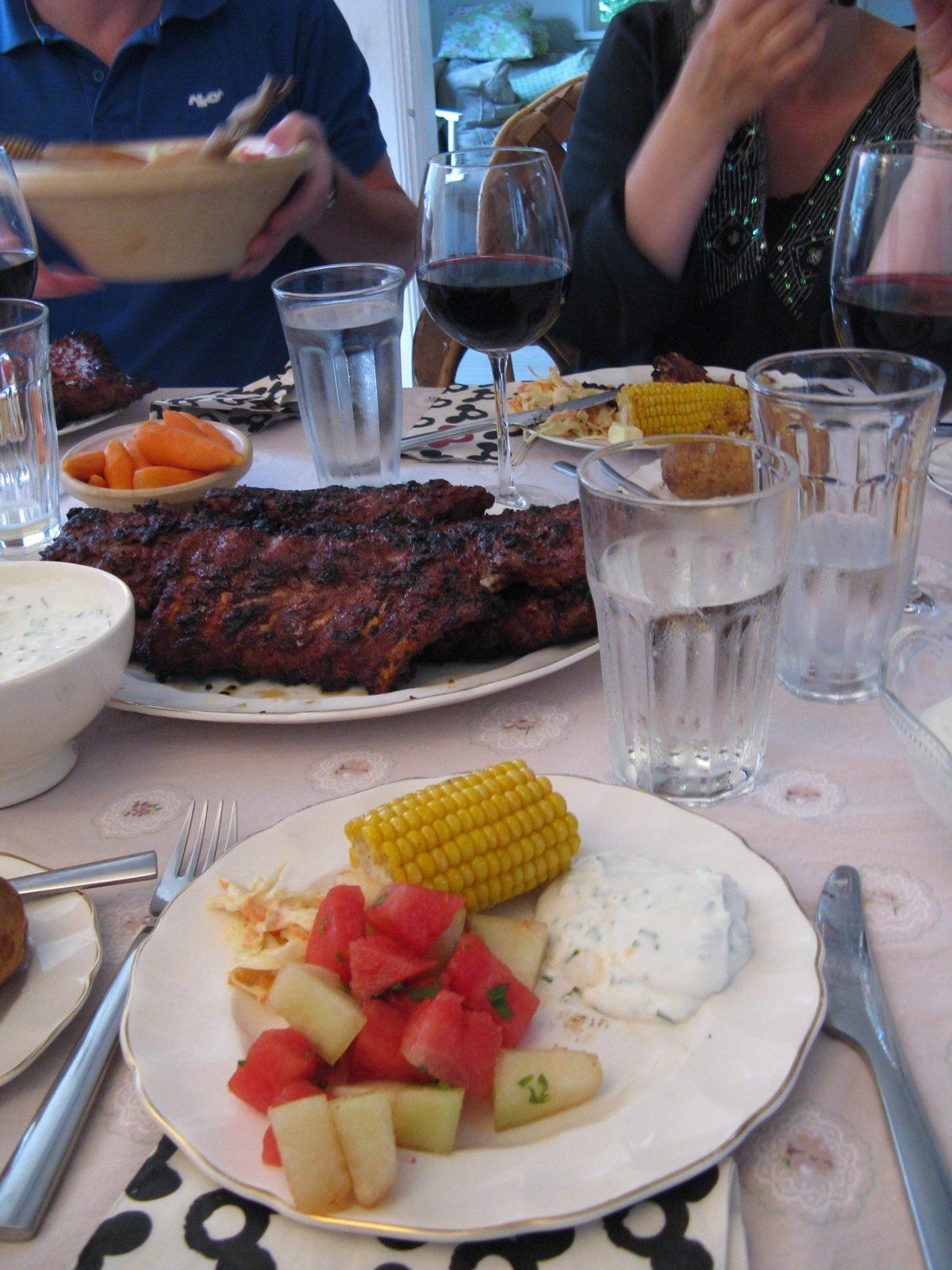 summer food at godmoms summer house 2009