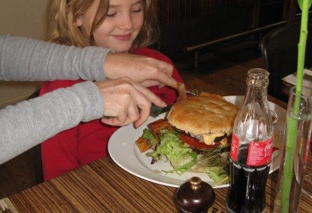 My baby sister at Cafe carlton