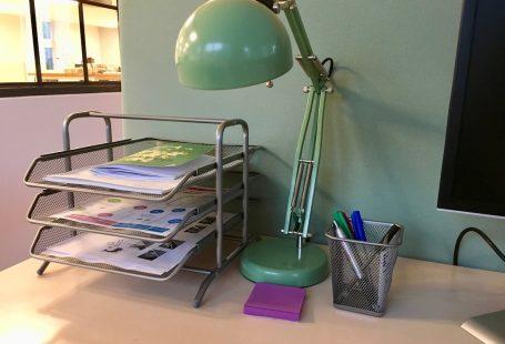 my desk at timelog 2017