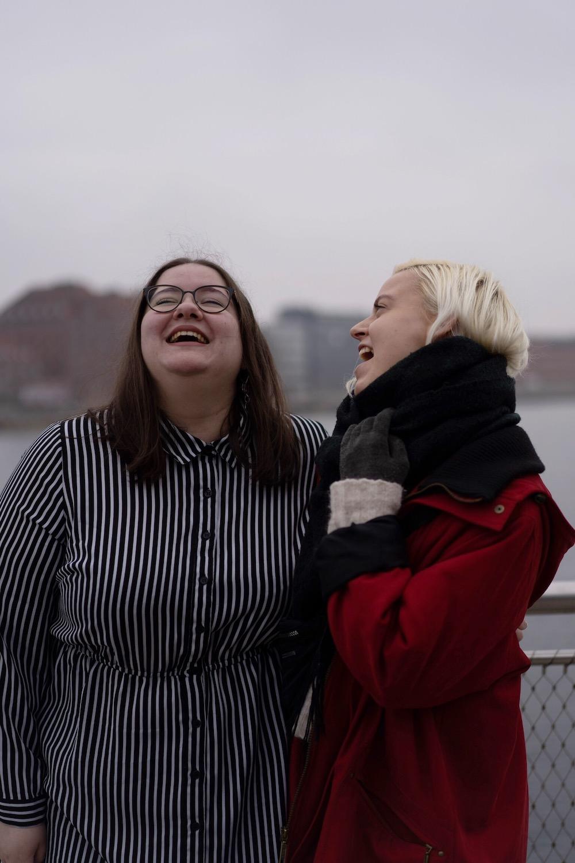 Katrina and I laughing kalvebod brygge