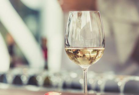 a glas of white wine 2020