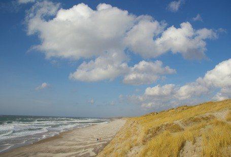 beach and sand dunes in denmark 2016