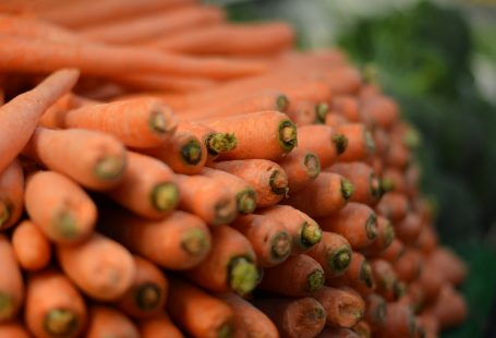 carrots and many of them in layers