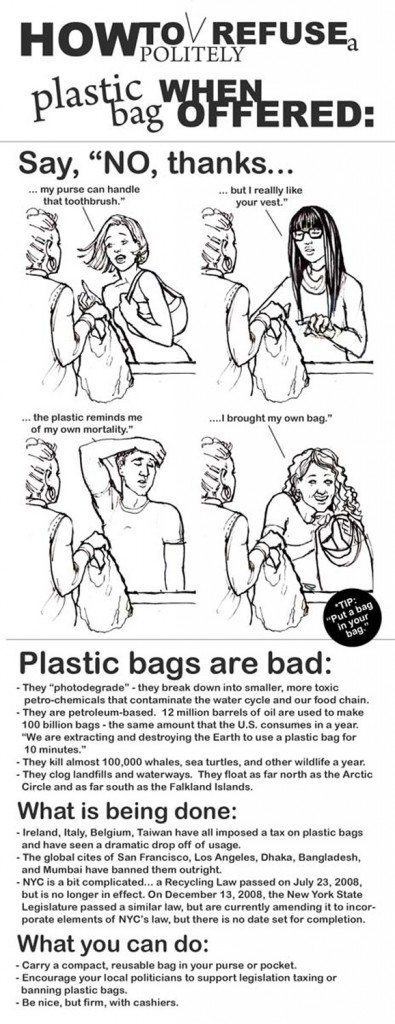 how to refuse plastic bag