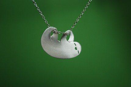 sloth necklace cute