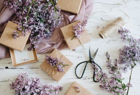 presents with lilacs and ribbon 2021