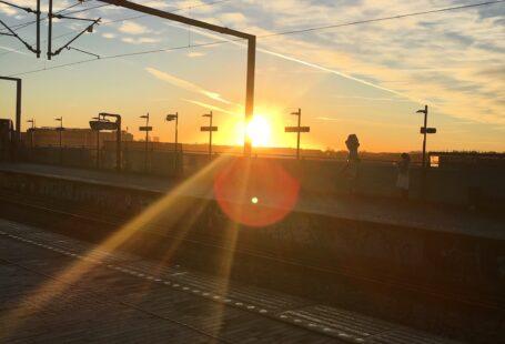 sunrise at ny ellebjerg station january 2019